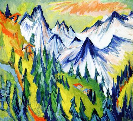 Ernst Ludwig Kirchner. Mountain peaks