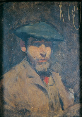 Ramon Casas i Carbó. Self-portrait in blue beret