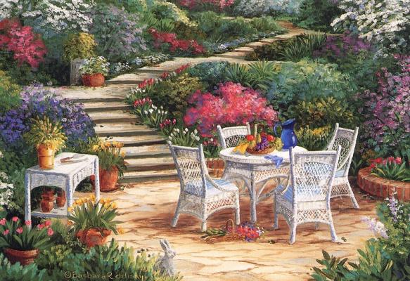 Барбара Фелиски. Беседка в саду
