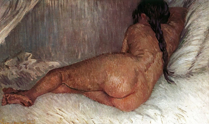 Vincent van Gogh. Reclining Nude, back view