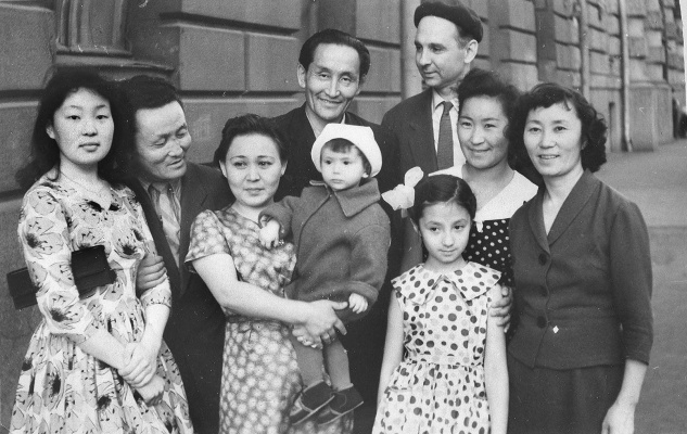 Nadezhda Nikolaevna Rusheva. N. Rusev with his family at the Embassy of Tuva in Moscow. And guests from Tuva