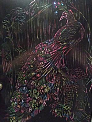 Natalie Shaposhnikova. Thinking peacock