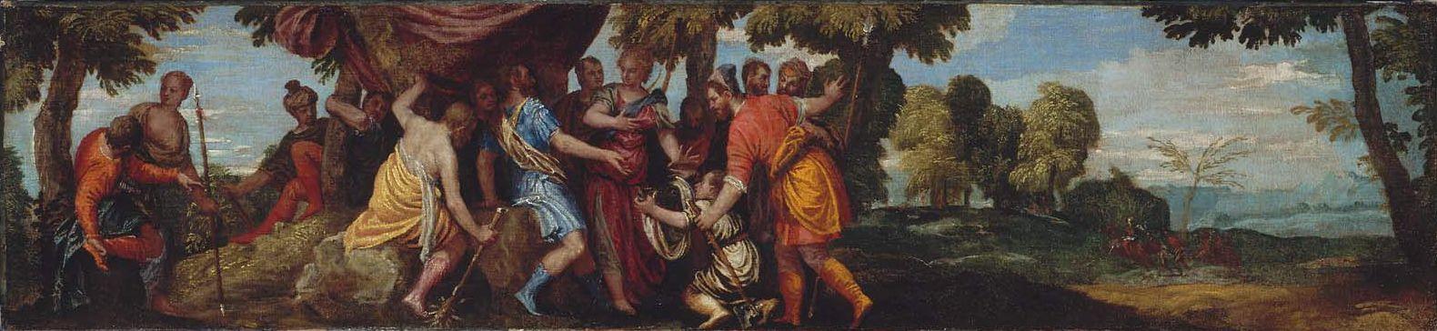 Paolo Veronese. Meleagr presents Atalanta boar's head
