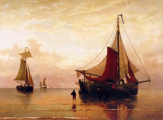 Хендрик Виллем Месдаг. Закат у моря