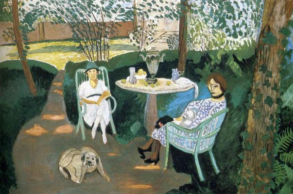Henri Matisse. Tea in the garden