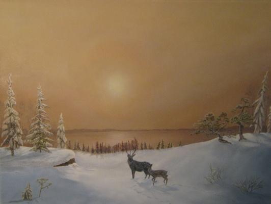 Янтарный закат