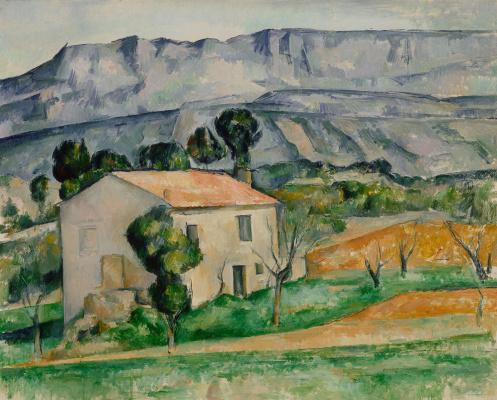 Поль Сезанн. Дом напротив горы Сент-Виктуар возле Гарданны