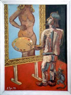 Leonid Andreyanovich Tuchkov. The painter and the devil