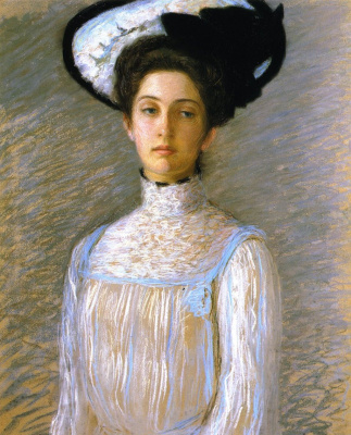 Lila Cabot Perry. Alice in a white hat