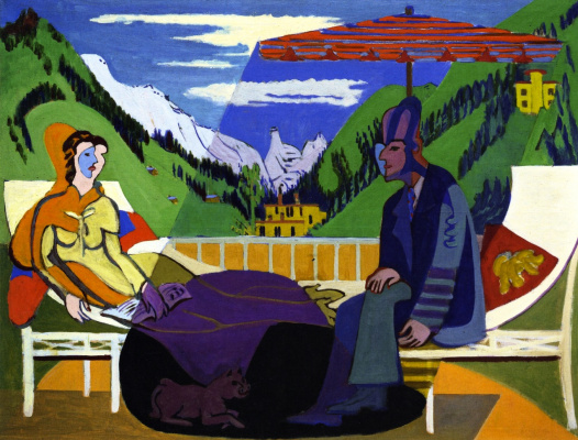 Ernst Ludwig Kirchner. On the balcony