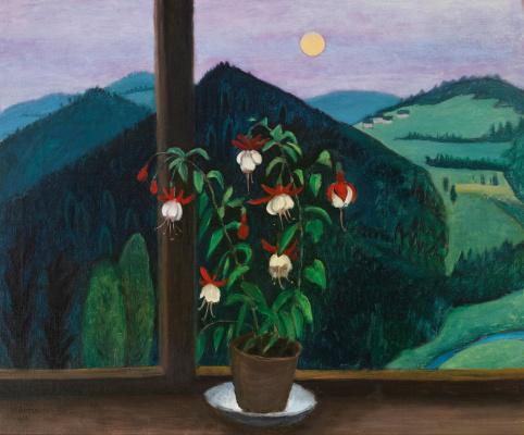 Gabriele Münter. Fuchsia on the window