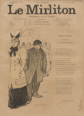 "Theophile-Alexander Steinlen. Illustration for the magazine ""Mirliton"" No. 1"