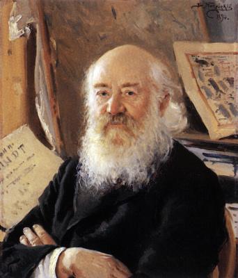 Vladimir Egorovich Makovsky. Portrait of D. A. Rovinsky