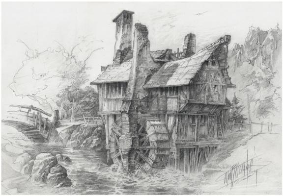 Alexander Nikolayevich Steshenko. Water Mill