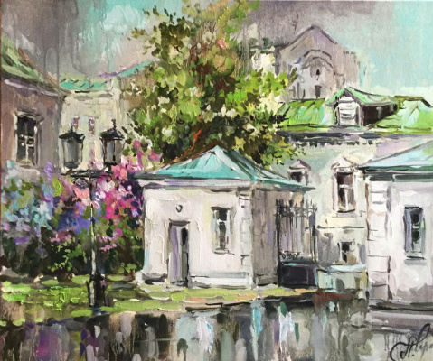 Anna Anatolyevna Charina. After the rain. Yard on Pottery Street