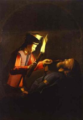 Жорж де Латур. Нахождение тела св. Алексея