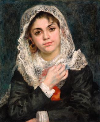 Pierre-Auguste Renoir. Lisa in a white shawl