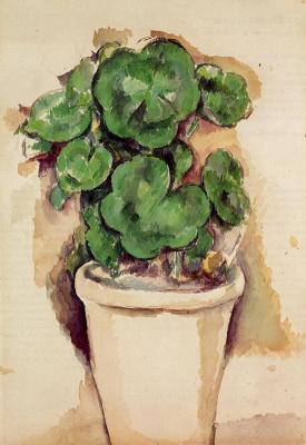 Paul Cezanne. A pot of geraniums