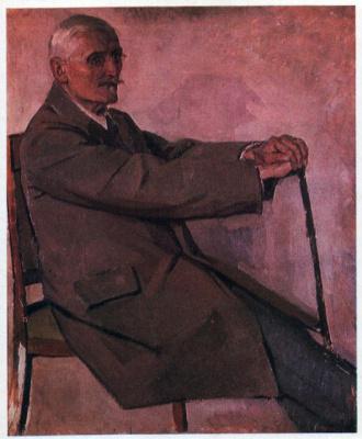 Портрет историка искусств, профессора Г.Г. Павлуцкого. 1922-1923