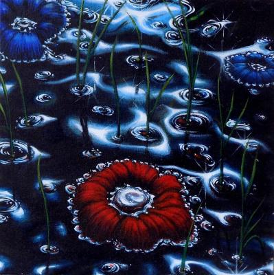 Alex Visiroff. Floating flowers
