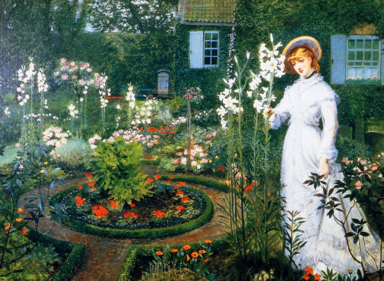 John Atkinson Grimshaw. In the garden: the queen of lilies