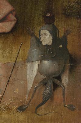 Иероним Босх. Святой Иоанн на Патмосе. Фрагмент