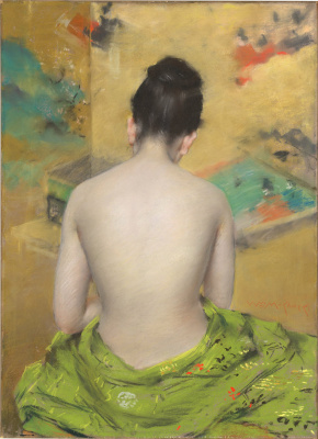 William Merritt Chase. Study in bodily and gold