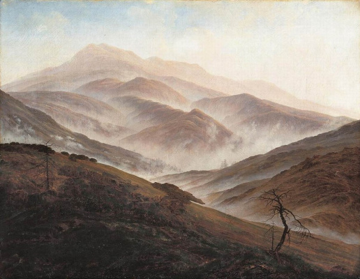 Caspar David Friedrich. Landscape in the Silesian Mountains