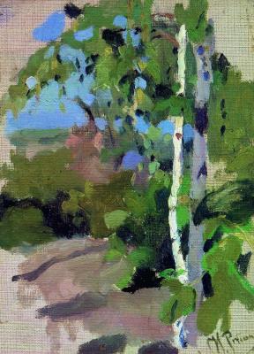 Ilya Efimovich Repin. Birch. Sunny day