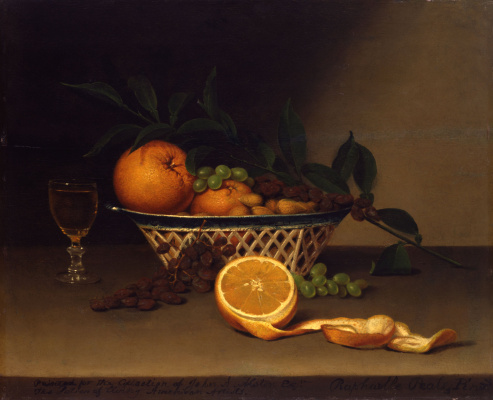 Raphaelle Peale. Still life with oranges