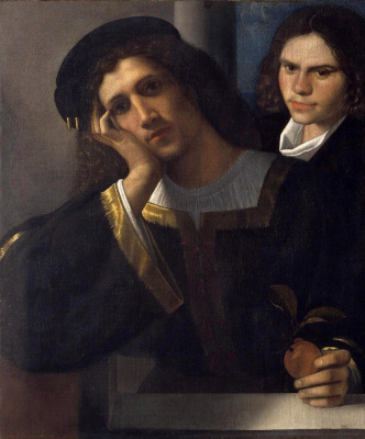 Giorgione. Portrait of two young men