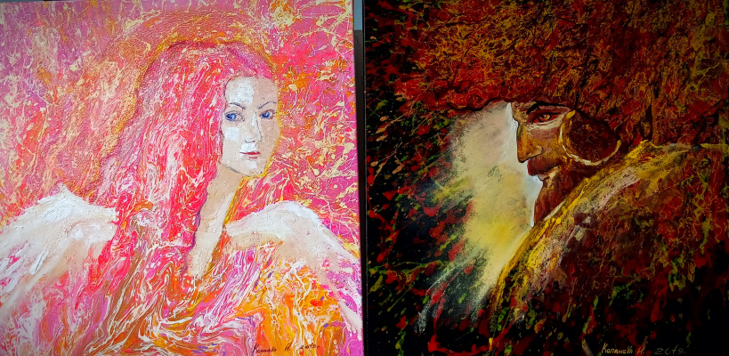 "Irina Vyacheslavna Kopaneva. Diptych ""Love and Passion"""