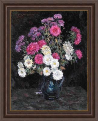 Иван Моисеевич Мамонтов. Asters and chrysanthemums.