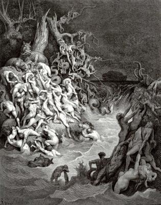 Поль Гюстав Доре. Иллюстрации к Библии: всемирный потоп