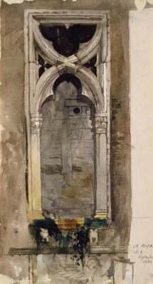 Джон Рёскин. Окно во дворце Фоскари, Венеция