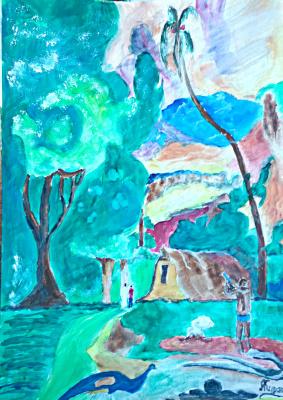 Андрей Куракин. Пейзаж по Гогену