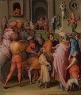 Jacopo Pontormo. Joseph is sold to Potipharu