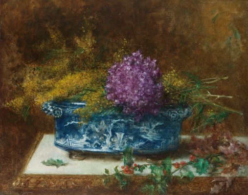 Alexey Alekseevich Kharlamov. Still life with lilies. 1915