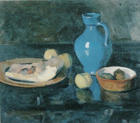 Осип Эммануилович (Иосиф) Браз. Натюрморт с голубым кувшином. 1921