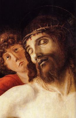 Джованни Беллини. Мертвого Христоса поддерживают два ангела