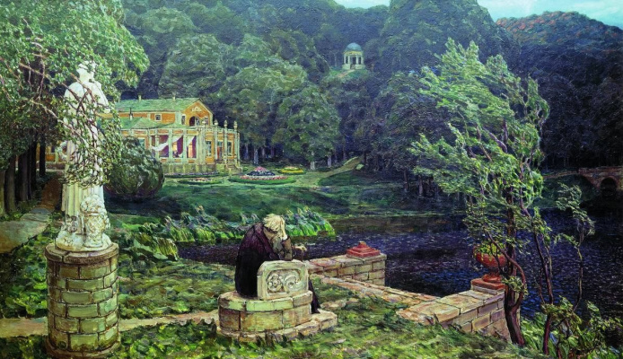 Apollinarius Mikhailovich Vasnetsov. The noise of the old Park (All in past)