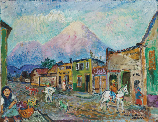 David Davidovich Burliuk. The city Amecameca in Mexico