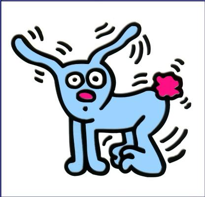 Кит Харинг. Заяц с розовым хвостом