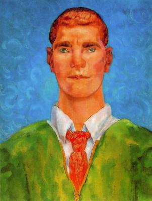 Эваристо Валле. Портрет мужчины в зеленом