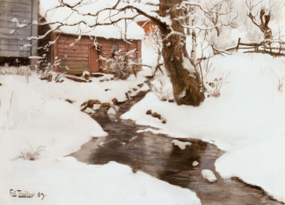 Frits Thaulow. Winter on the Isle of Stord