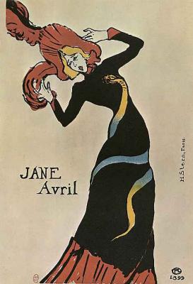 """Анри де Тулуз-Лотрек. Плакат """"Жанна Авриль"""""""