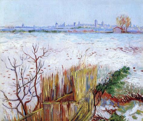 Винсент Ван Гог. Снежный пейзаж с видом на Арль