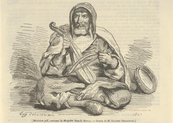 Еврейский музыкант в Могадоре, Марокко