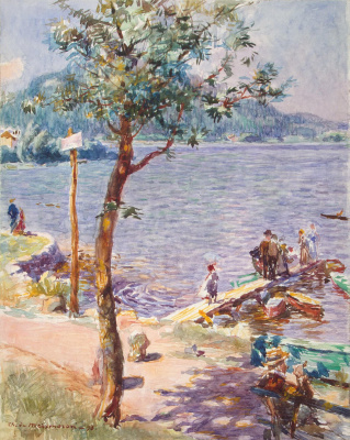 Шарль де Домбаль Мейксморон. Вид озера