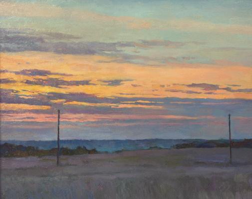 Oleg Borisovich Zakharov. The solitude of sunrise over the Malsky valley.